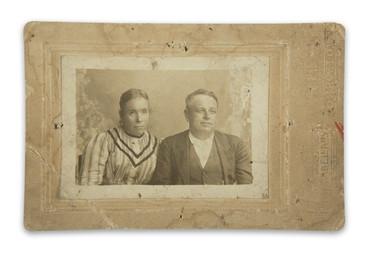Photograph of his grandparents, Sinforoso and Josefa
