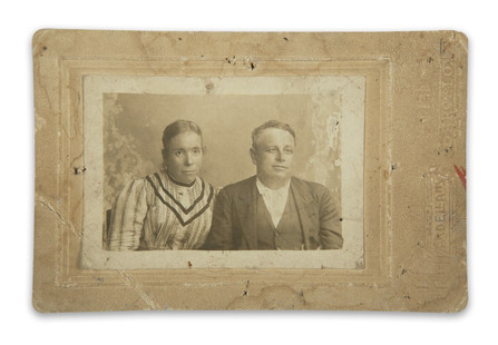 Photograph of his grandparents, Sinforoso and Josefa