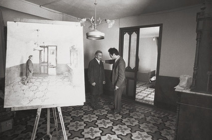 In the house of his uncle Antonio López Torres, 1973.