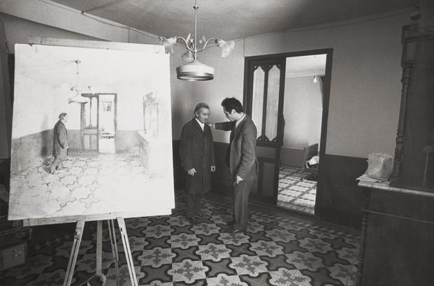 En la casa de su tío Antonio López Torres, 1973.