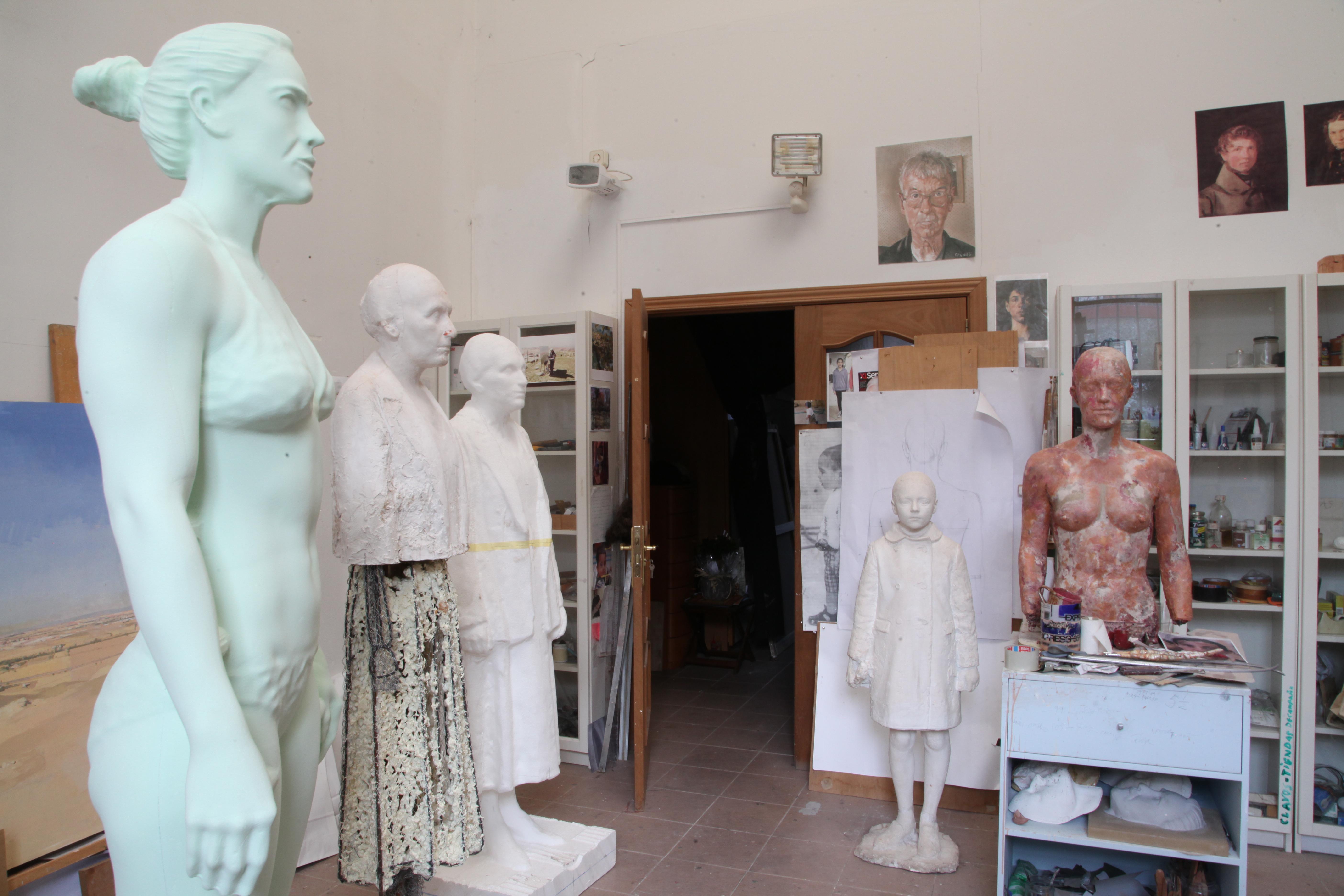 Esculturas en proceso