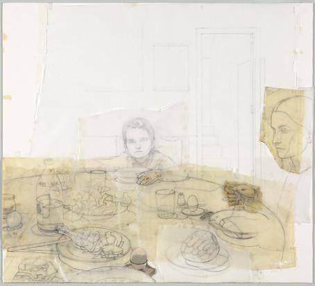 """Dibujo para """"La cena"""", 1971-82"""