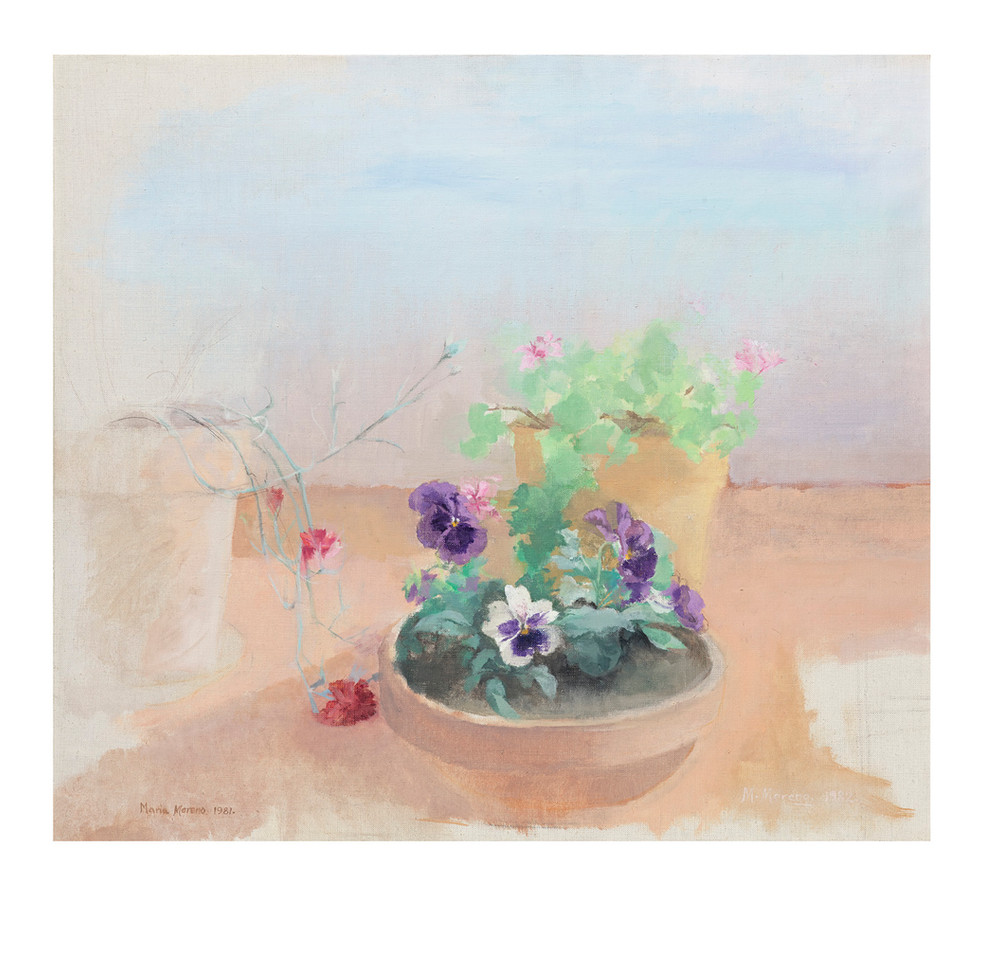 Pansies with sunshine, 2020, digigraph, 45 x 46 cm