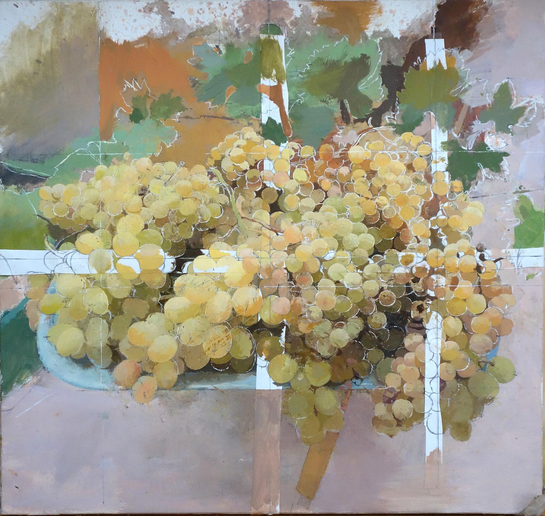 Antonio López, Uvas doradas 1, 2017, óle
