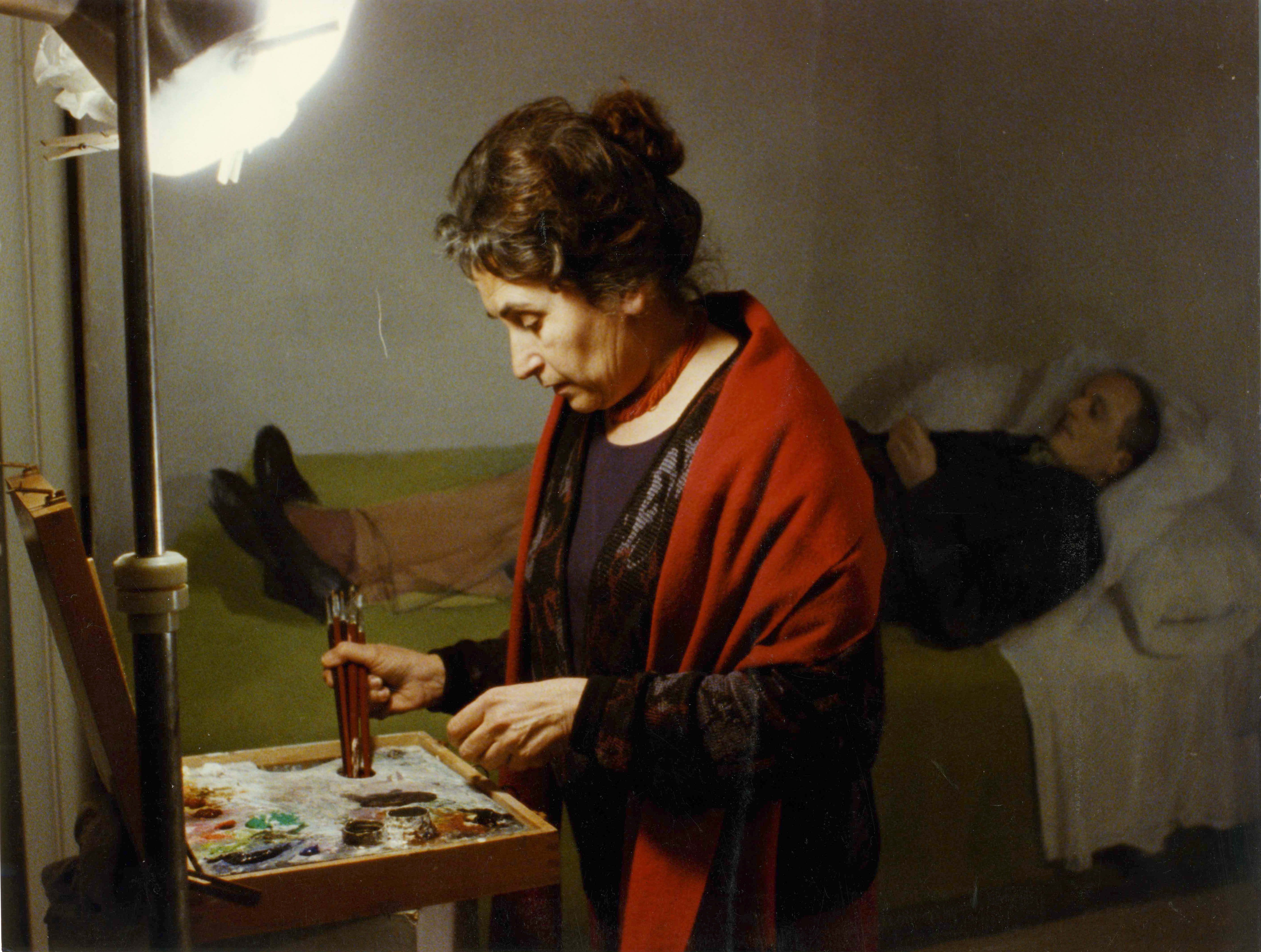 María Moreno retratando a Antonio