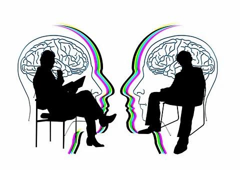 Deux cerveaux travaillent ensemble
