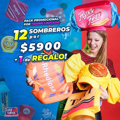 Pack 12 Sombreros Creativos + 1 DE REGALO