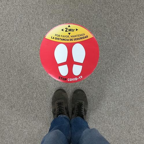 Adhesivo de suelo circular 36 cm