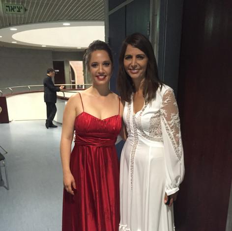 עם עינת שרוף במופע מחווה לחתני פרס ישראל בזמר העברי