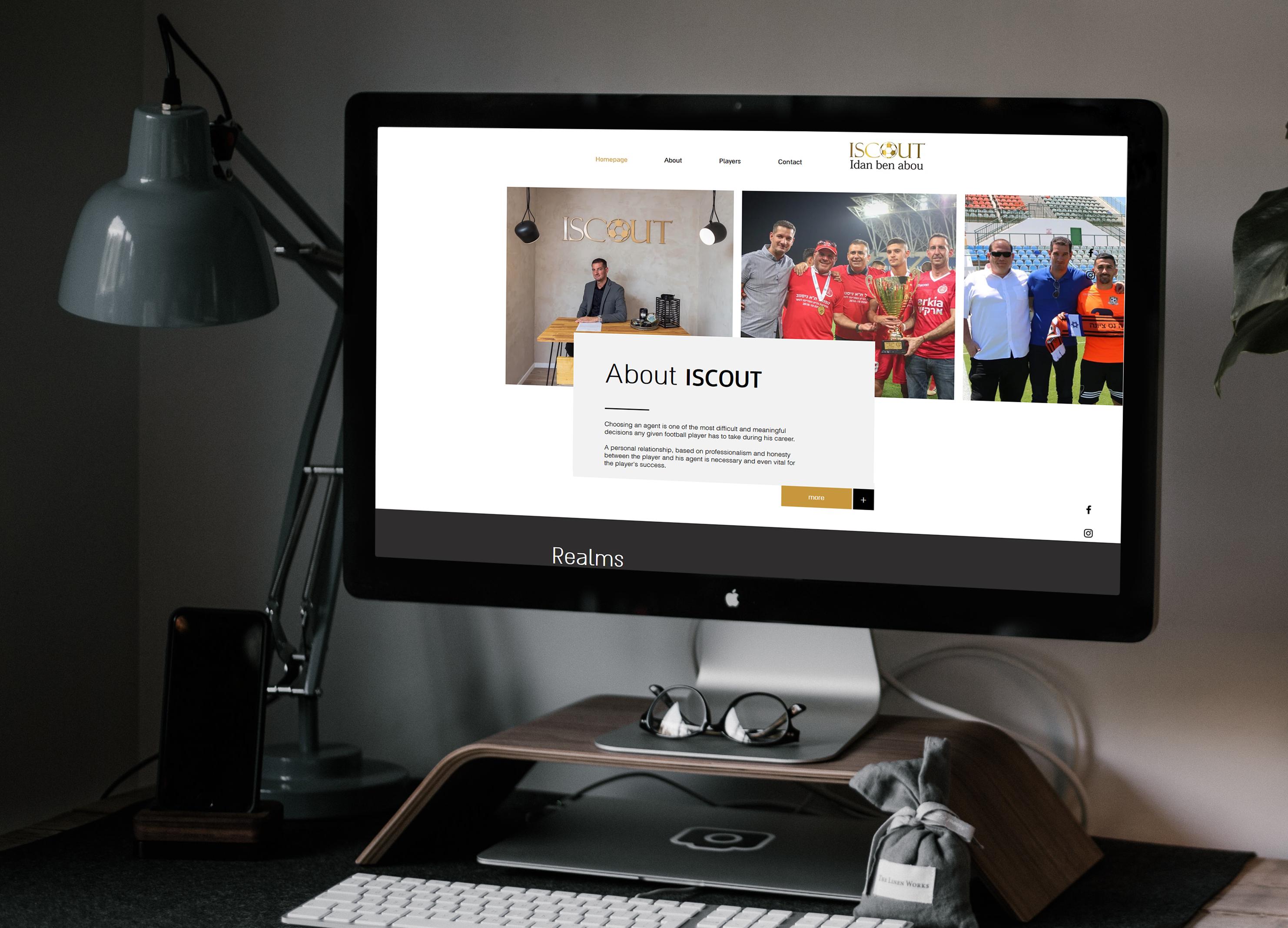 ISCOUT - מיתוג ועיצוב אתר -עידן בן אבו