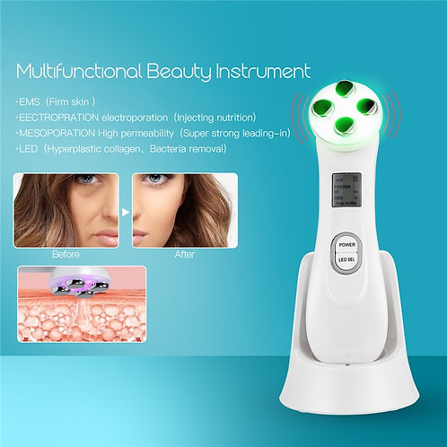 5 Colors LED Photon Skin Rejuvenation RF Beauty Device - Firming Face Lifting