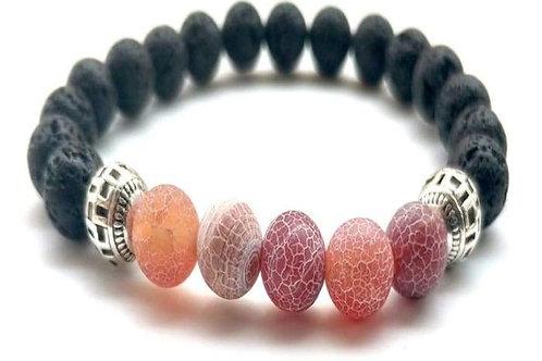 Red Lava Stone Essential Oil Bracelet