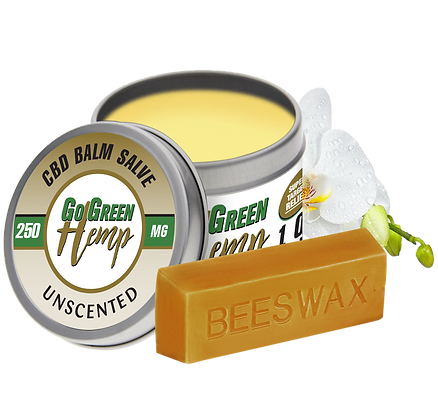 GoGreen Hemp CBD Balm Salve Unscented 250mg