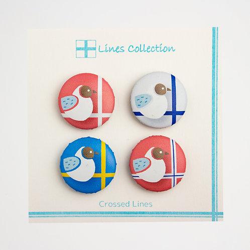 Lines Collection ハンドメイドマグネット4個入り
