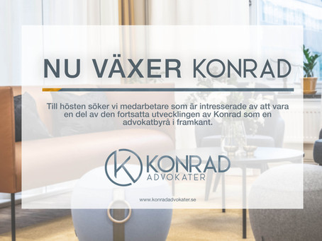 Konrad Advokater växer