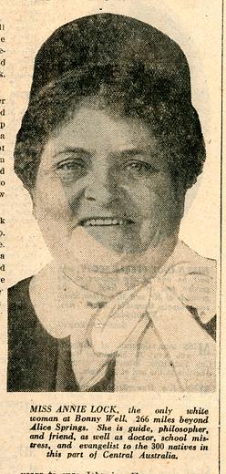 33 Annie Lock  Adelaide Mail 5 nov 1932 p1 .tif
