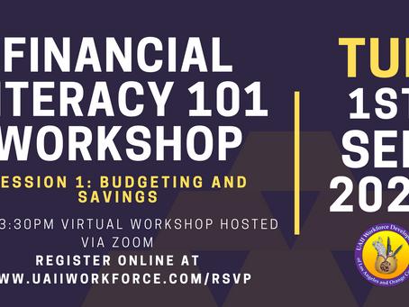 Financial Literacy Session #1 (Budgeting / Savings) Tomorrow at 2pm