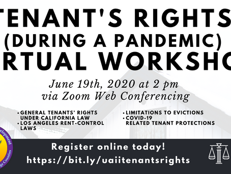 UAII Workforce Development Tenant's Rights During a Pandemic Workshop (June 2020)