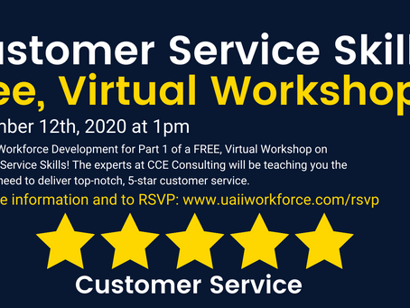 FREE Virtual Customer Service Workshop | 11/12/2020 @ 1 pm