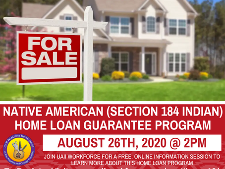 Native American Home Loan Program Info Session | August, 26th, 2020 @ 2pm