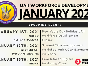 January 2021 Upcoming Events | UAII Workforce Development