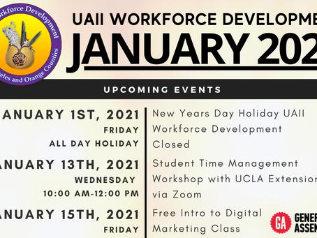 January 2021 Upcoming Events | UAII Workforce Development