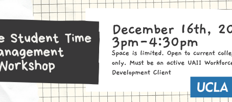 Exclusive College Student Time Management Workshop with UCLA Extension