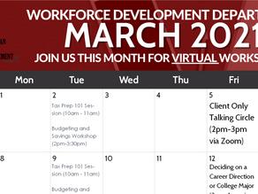 UAII Workforce Development March 2021 Events Calendar