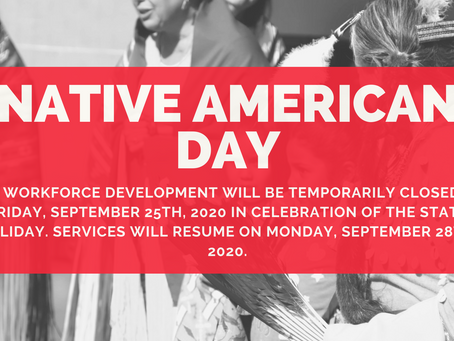 UAII Workforce Development Temporarily Closed on Friday, September 25th, 2020