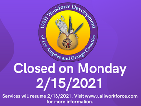 Closed for President's Day Holiday | February 15th, 2021