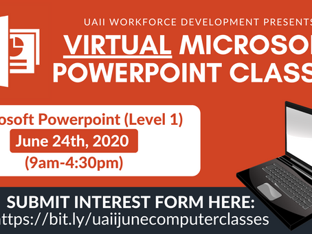Microsoft Office 365 Virtual Classes! Now offered by UAII Workforce Development