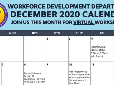 UAII Workforce Development December 2020 Calendar