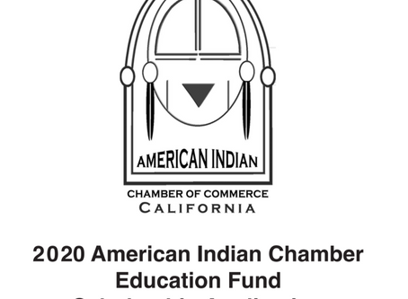 DEADLINE EXTENDED to 10/29: 2020 American Indian Chamber Education Fund Scholarship Application