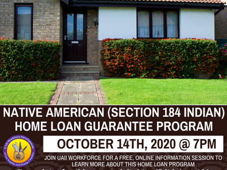 Evening Session: Native American Home Loan Program Info Session | October, 14th, 2020 @ 7pm
