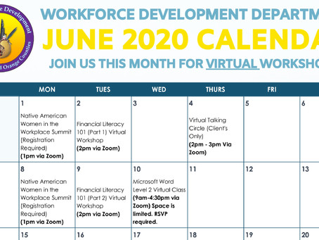 UAII Workforce Development June 2020 Calendar