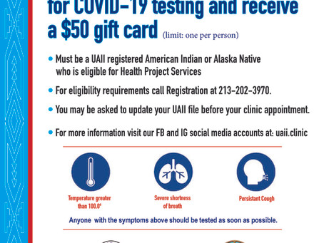 Free COVID-19 Testing for UAII Clients