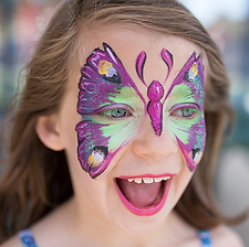 Denver Face Painter, Butterfly, Face Nectar Colorado, Birthday party, Face painter