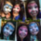 Denver face painter, face painting, face nectar colorado, Easter bunny face paint, Emiko Martinez, Denver artist