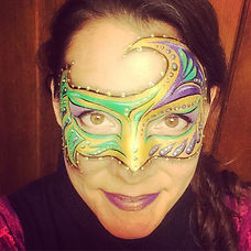 Denver face painter, Face Nectar Colorado, Emiko Martinez, face painting, masquerade mask face paint