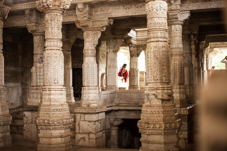 Temple de Ranakpur, Rajasthan, Inde.
