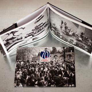 Livre de photographies des pélerinages publié à l'occasion du 70ème anniversaire de l'hospitalité Notre-Dame de Lourdes de la Mayenne.