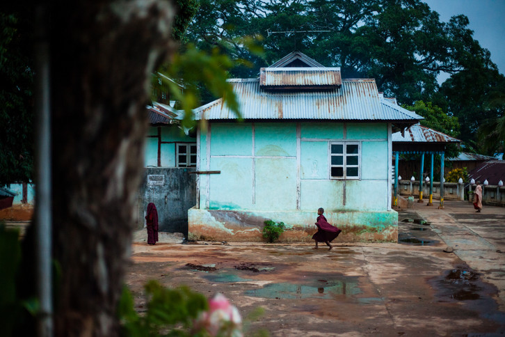Monastère rural, état Shan, Myanmar.