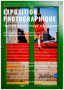 Affiche exposition photographique notre belle ville nantaise