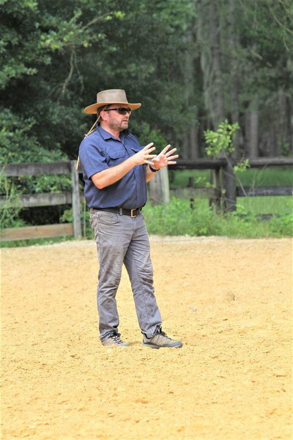 Dirk Hambloch teaching dressage, Williston, FL