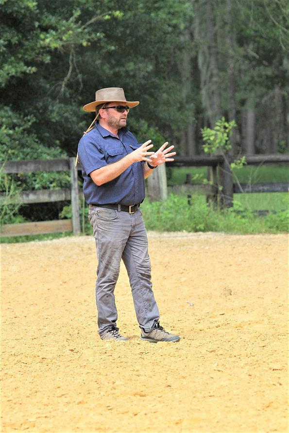 Dirk Hambloch teaching dressage, Williston, FL