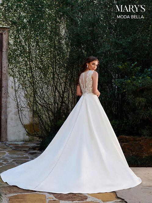Marys Bridal MB2110 Illusion Neckline Bridal Gown