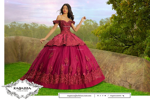 DV52 3D FLORAL QUINCEANERA DRESS BY RAGAZZA