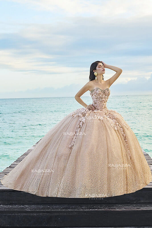 D08-508FLORAL 2 PIECE QUINCEANERA DRESS BY RAGAZZA