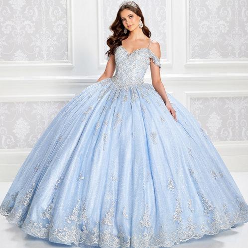 Princesa by Ariana Vara Princess-worthy glitter tulle quinceanera dress