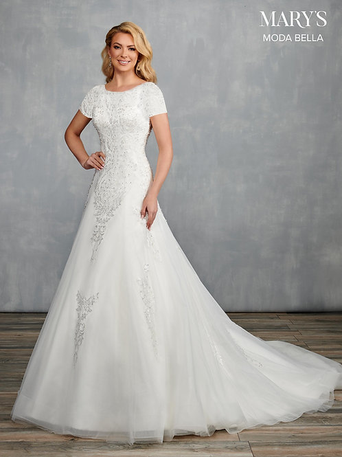Marys Bridal MB2102 Short Sleeve Wedding Dress